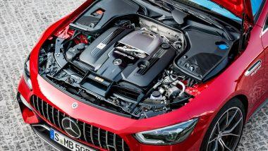 Mercedes-AMG GT Coupé 4 Plug-in: sotto il cofano il solito V8 biturbo