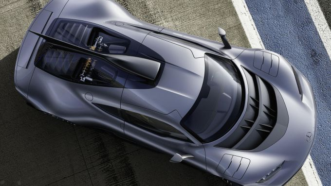 Mercedes-AMG One: visuale dall'alto