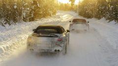 Mercedes AMG SL 2021: le due auto sulla neve