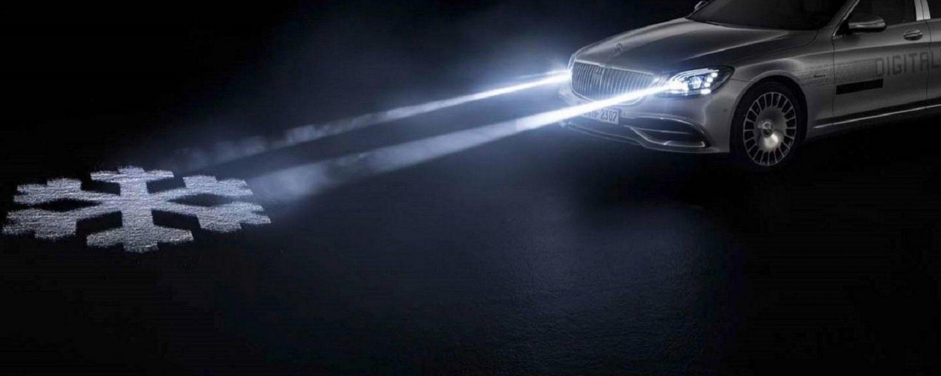 Mercedes-Benz Digital Light: alcuni dei segnali che può proiettare