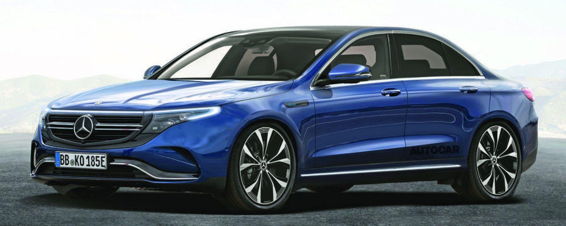 Mercedes-Benz EQE, la berlina elettrica del 2022