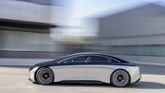 Mercedes Benz EQS: vista laterale