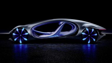 Mercedes-Benz Vision AVTR: visuale laterale
