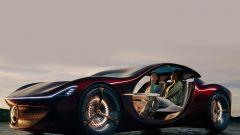 Mercedes-Benz Vision Duet: l'abitacolo ha spazio per due posti dietro e uno nella parte anteriore