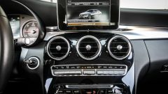 Mercedes C220 d Sport: il display dell'impianto infotainment
