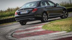Mercedes C220 d Sport: vista 3/4 posteriore
