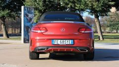 Mercedes C220d Cabrio 4matic: vista posteriore