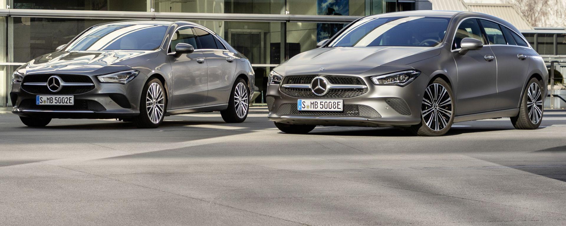 Mercedes CLA 250 e Coupé e Shooting Brake