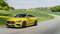 Mercedes CLA 35 AMG 4Matic Shooting Brake: vista 3/4 anteriore