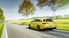 Mercedes CLA 35 AMG 4Matic Shooting Brake: vista 3/4 posteriore