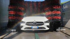 Mercedes CLA Shooting Brake al lavaggio prima dello shooting fotografico