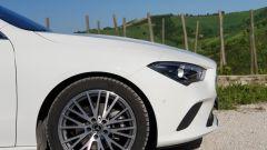 Mercedes CLA Shooting Brake, dettaglio laterale del frontale
