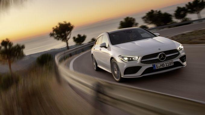 La Mercedes CLA Shooting Brake tra le curve è precisa e stabile