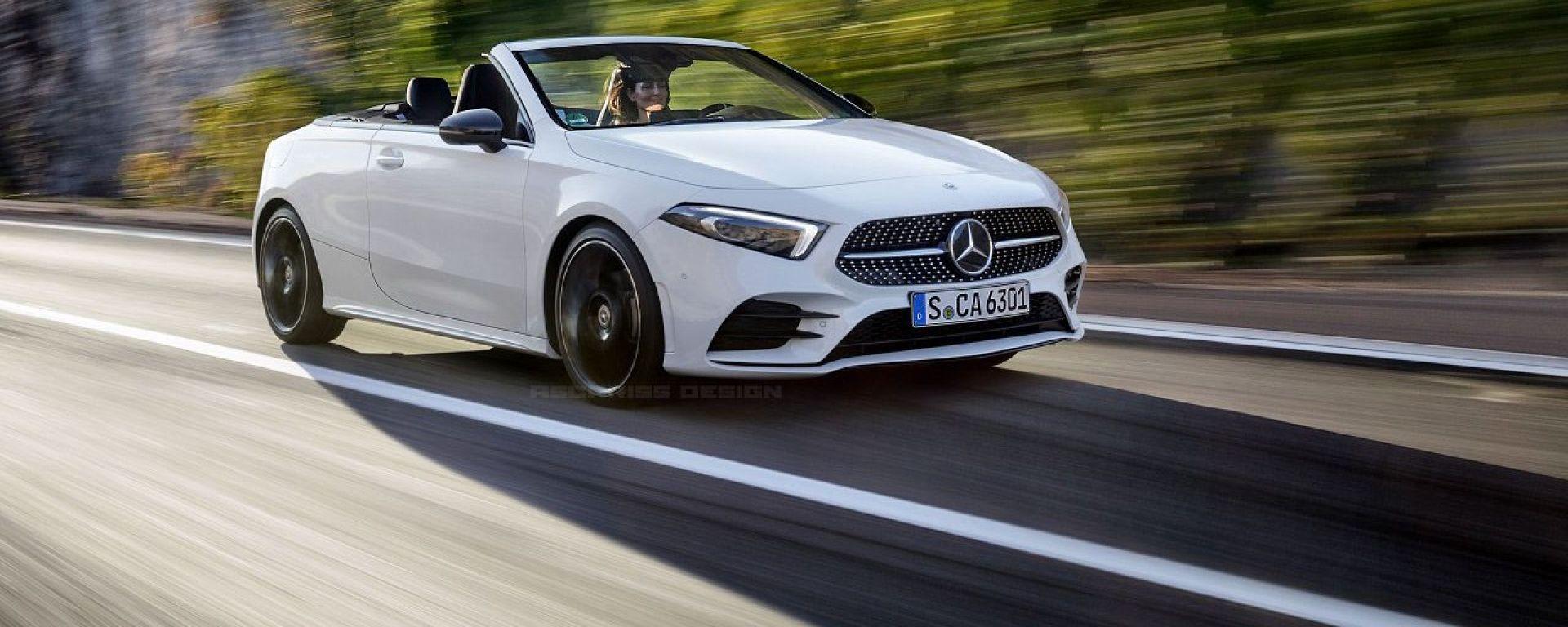 Mercedes Classe A Cabrio: un rendering di Ascariss Design