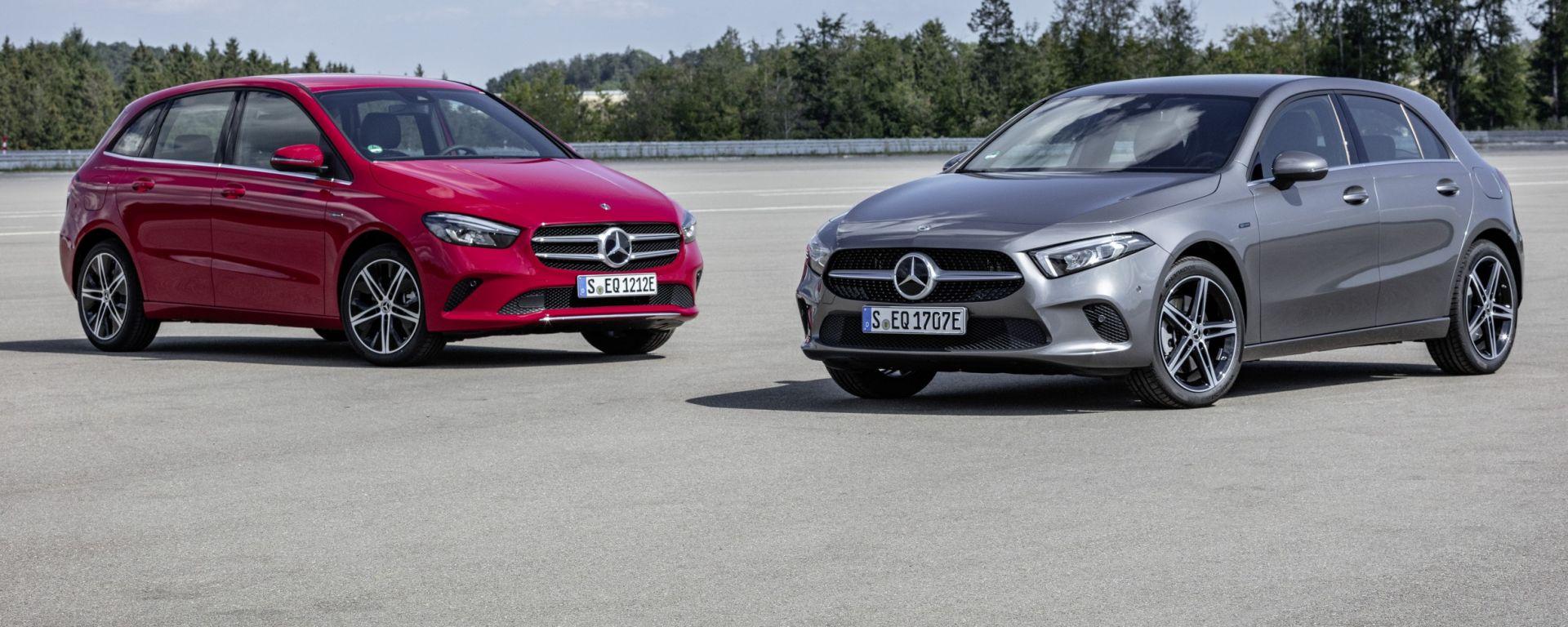Mercedes Classe A e Classe B ibride plug-in