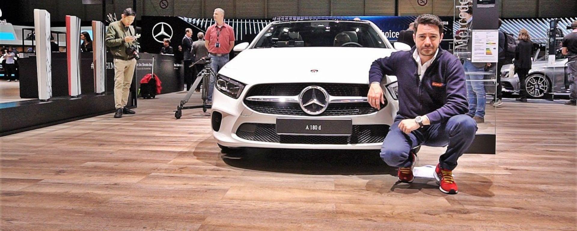 Mercedes Classe A, live Salone di Ginevra 2018