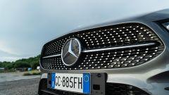 Mercedes Classe A180d, dettaglio della calandra
