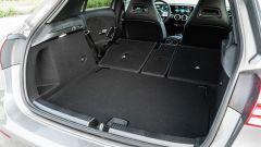 Mercedes Classe A180d, il bagagliaio con i sedili reclinati
