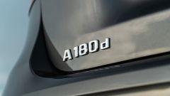 Mercedes Classe A180d, la scritta identificativa del modello
