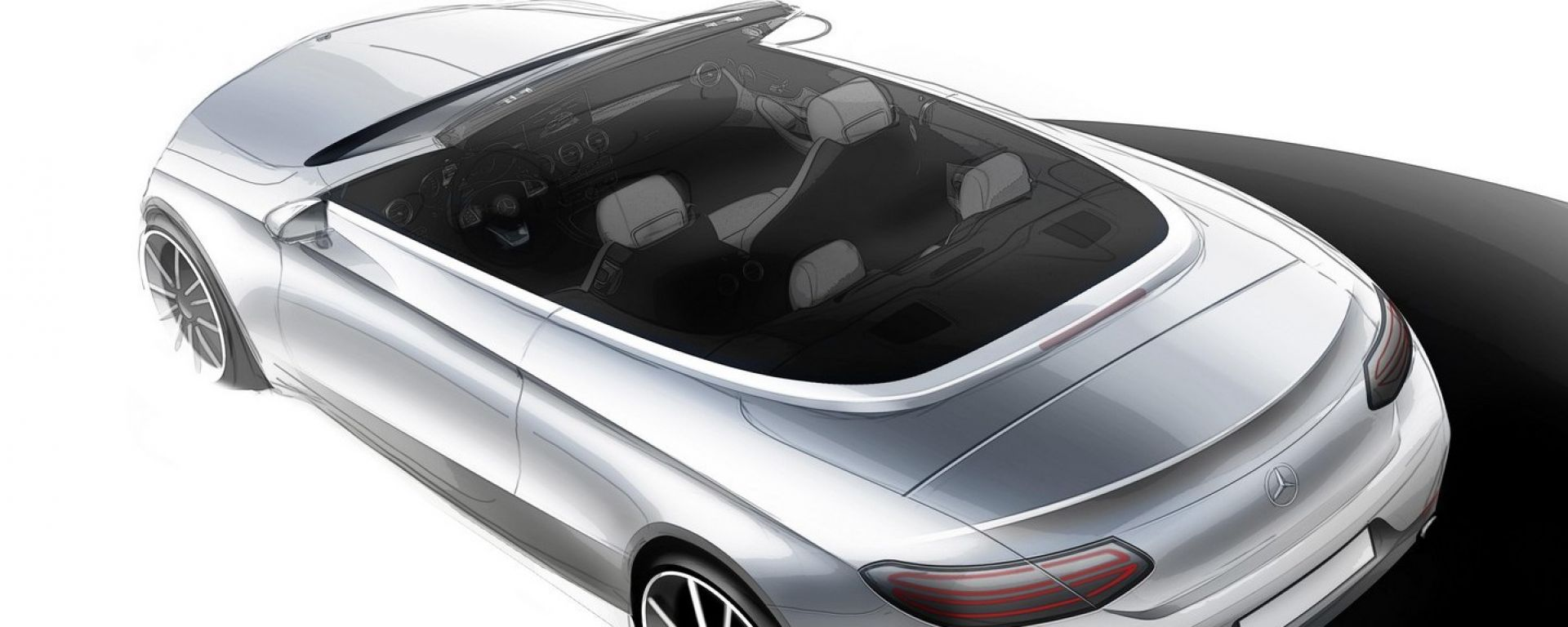 Mercedes Classe C Cabriolet: il primo sketch
