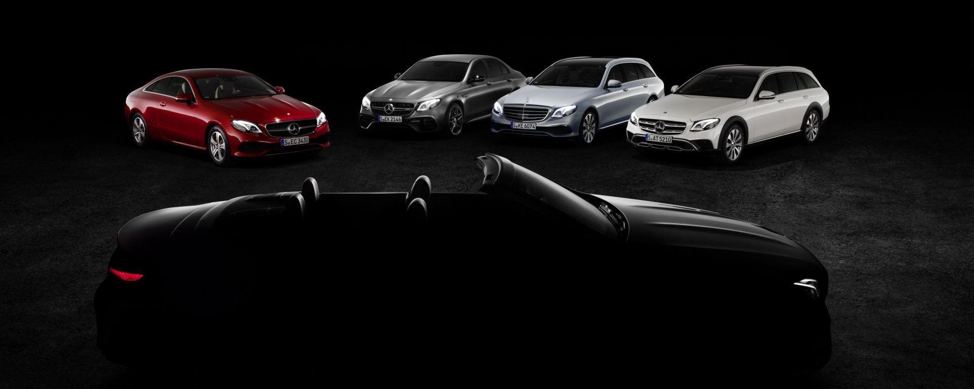 Mercedes Classe E Cabrio: l'immagine teaser che anticipa il debutto al Salone di Ginevra 2017