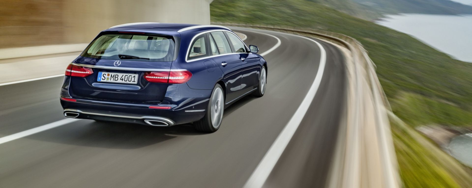 Mercedes Classe E Wagon: vista posteriore
