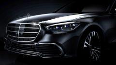 Nuova Mercedes Classe S 2021, il teaser del frontale