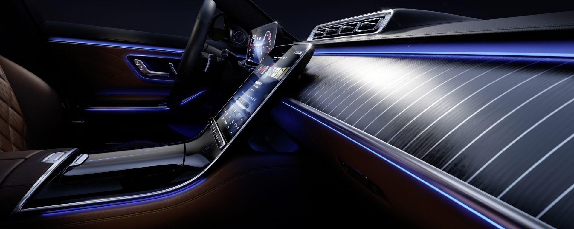 Mercedes Classe S 2021: la plancia
