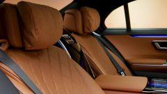 Mercedes Classe S 2021: particolare dei sedili posteriori