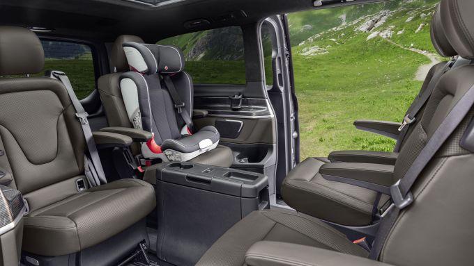 Mercedes Classe V 2019, gli interni