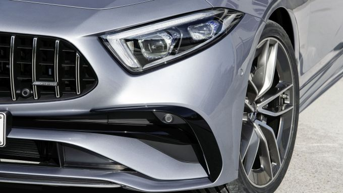 Mercedes CLS AMG 2021: particolare del nuovo frontale