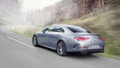 Mercedes CLS AMG 2021: visuale di 3/4 posteriore