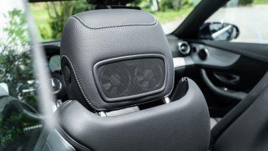 Mercedes E 220 d cabrio: le ventole per dirigere l'aria calda sul collo