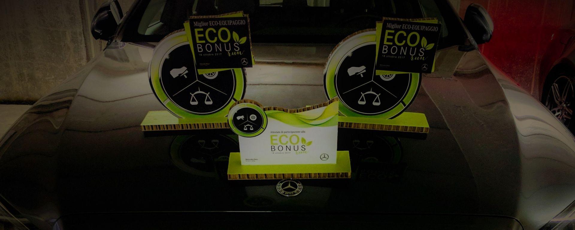 Mercedes benz ecobonus run sfida ai consumi nel mondo for 2 box auto con stanza bonus
