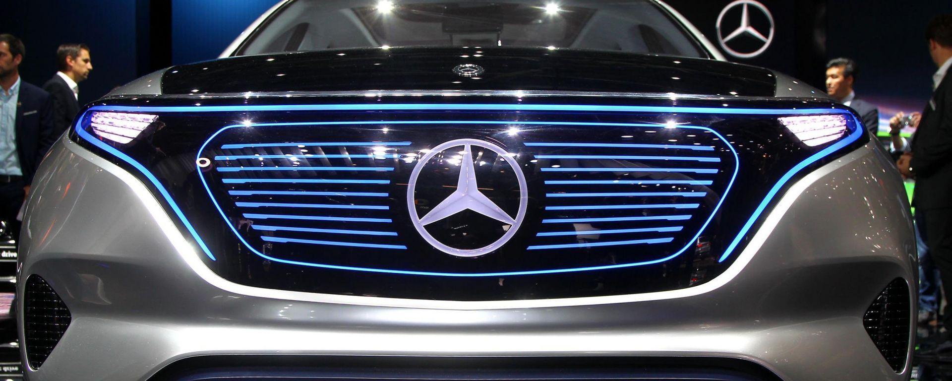 Mercedes EQ Concept, il muso