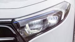 Mercedes EQA 2021, il gruppo ottico anteriore