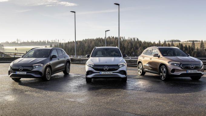 Mercedes EQA 2021, la gamma si articola su 6 versioni declinate in Sport e Premium