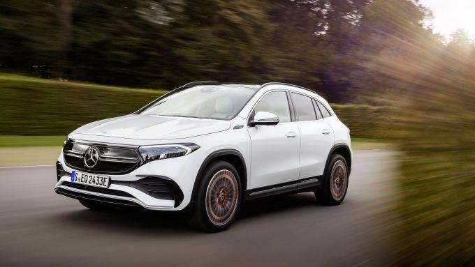 Mercedes EQA 2021, motore elettrico da 190 CV per 160 km/h di velocità massima