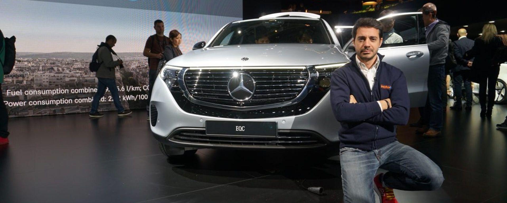 Nuova Mercedes EQC: il Suv elettrico in video da Parigi 2018