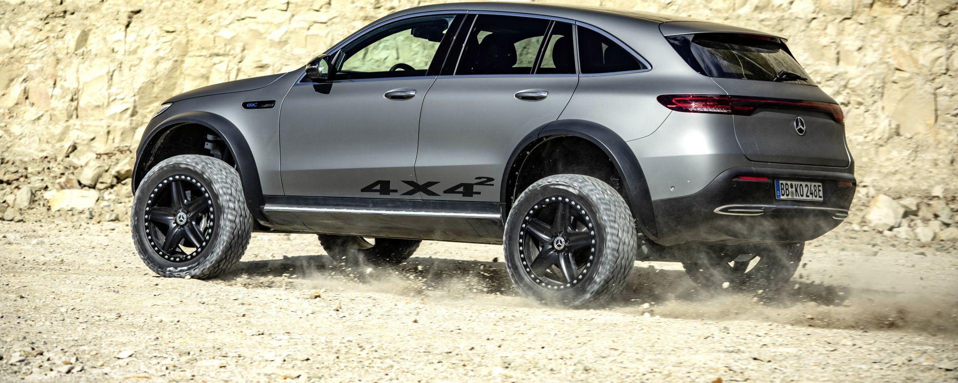 Mercedes EQC 4x4²: quasi 20 cm in più di EQC