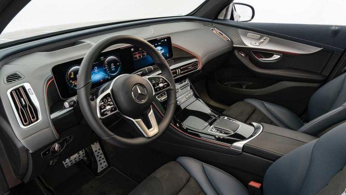 Mercedes EQC Brabus: una vista dell'abitacolo personalizzato