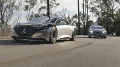 Mercedes EQS ed EQS Vision a confronto