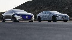 Mercedes EQS ed EQS Vision: prototipo da salone e muletto