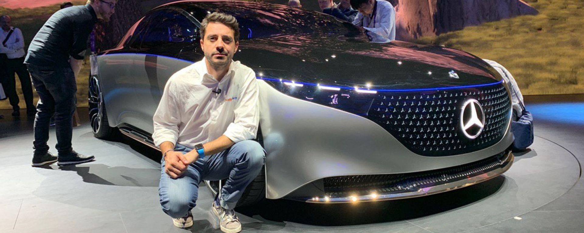 Mercedes EQS in video dal Salone di Francoforte 2019