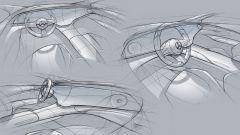 Mercedes EQS: i bozzetti dell'abitacolo con l'Hyperscreen
