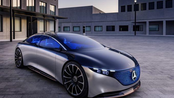 Mercedes EQS: il 3/4 anteriore