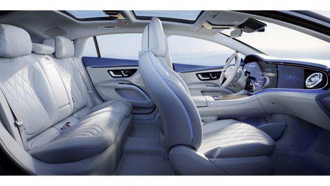 Mercedes EQS: il lussuoso abitacolo dell'ammiraglia a zero emissioni