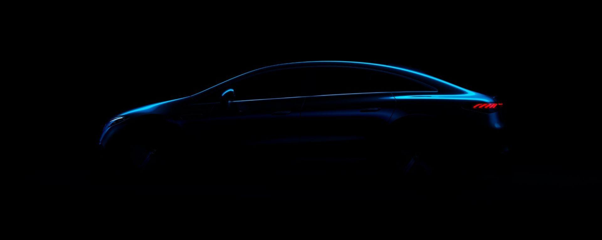 Mercedes EQS: il teaser apparso su Facebook