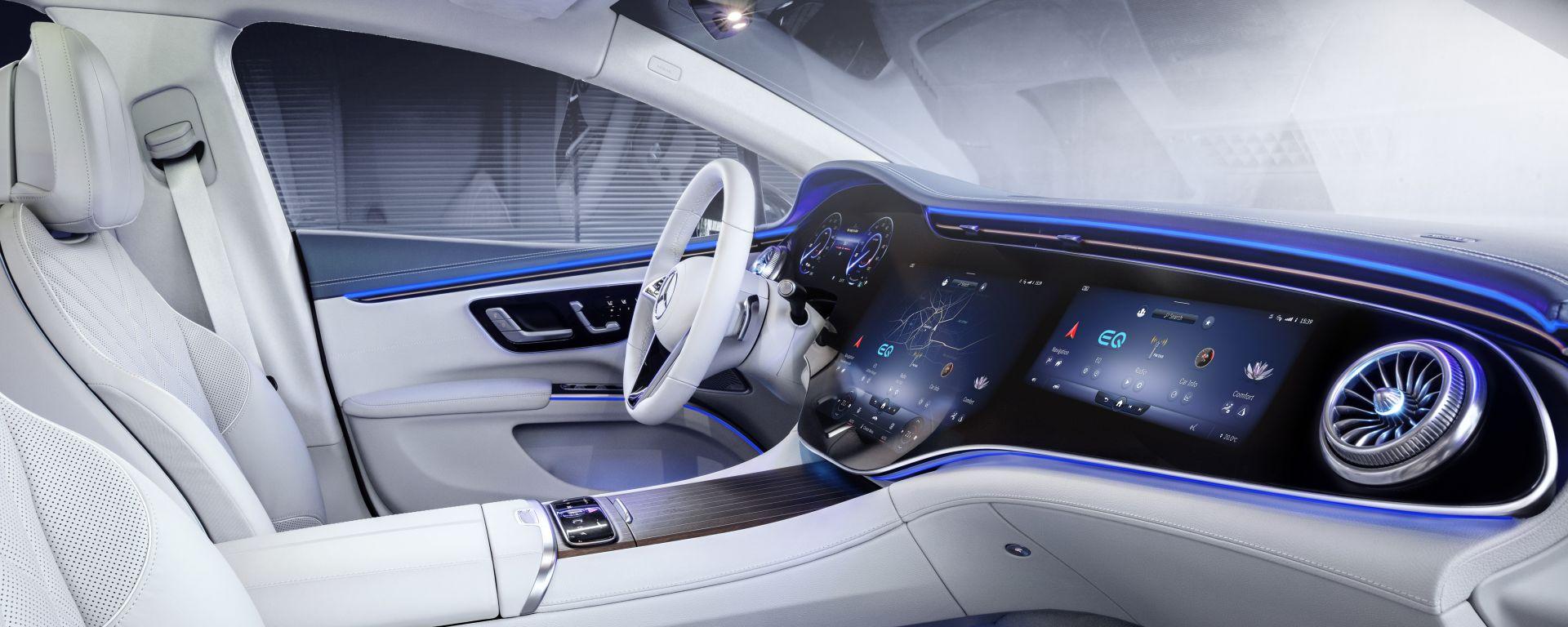 Mercedes EQS: l'ammiraglia elettrica avrà un display infotainment  da 56