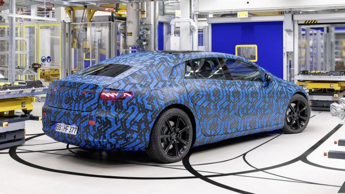 Mercedes EQS: un prototipo durante lo sviluppo